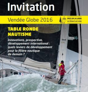 invitation_table ronde nautisme_vendee globe 2016